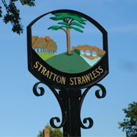 Stratton Strawless Sign